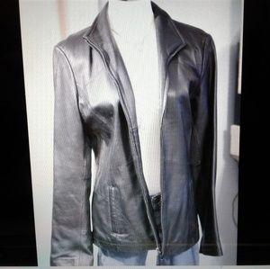 Black Leather Jacket Womens Medium